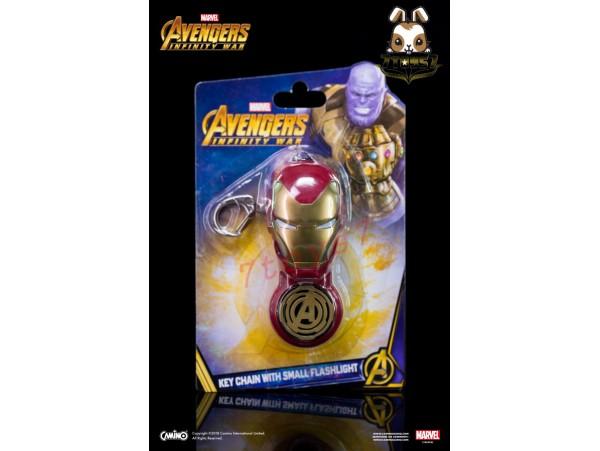 Camino: Iron Man_ Flash light Keychain _The Avengers Infinity War Marvel Movie CI009B