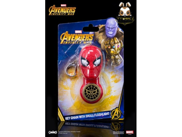 Camino: Iron Spider_ Flash light Keychain _The Avengers Infinity War Marvel Movie CI009C