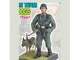 Cando 1/35 Pocket Army S5#33 MG42 Gun Team: Feldgendarmerie w/ Dog German CAX18B