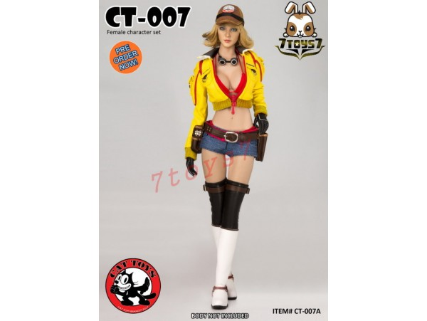 [Pre-order] Cat Toys 1/6 CT007A Female_ Yellow Set w/ Head _Video Game ZZ112D