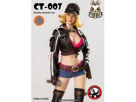 [Pre-order] Cat Toys 1/6 CT007B Female_ Black Set w/ Head _Video Game ZZ112E