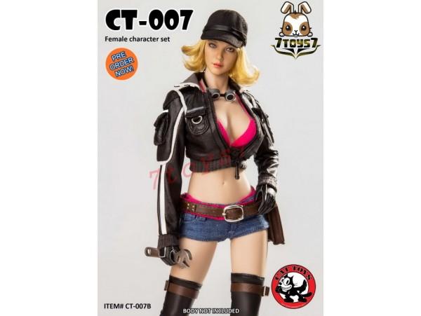 [Pre-order] Cat Toys 1/6 CT007B Female_ Black Set w/ Head _Video Game ZZ112E