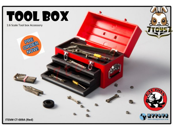 [Pre-order] Cat Toys x Zytoys 1/6 Tool Box_ Red Set _ZY024A