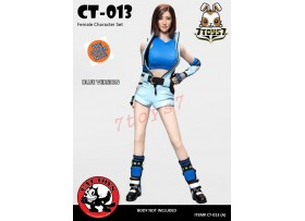 [Pre-order] Cat Toys 1/6 CT014A Female Fighting Suit_ Blue Set _ZZ112O