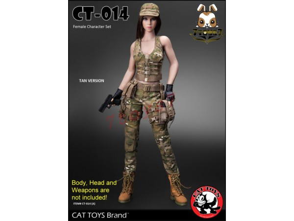 Cat Toys 1/6 CT014A Military Costume_ Tan Set _ZZ112Q