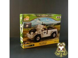 Cobi 2187 VW Type 82 Kubelwagen_ Box _WWII COB004A