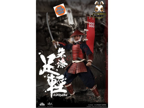 [Pre-order] COO Model 1/12 PE008 Pocket Empires - Red Armor Ashigaru_ Box _CL053Y