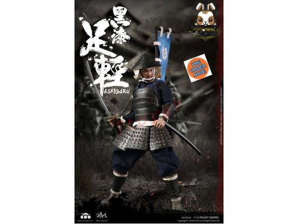 [Pre-order] COO Model 1/12 PE009 Pocket Empires - Black Armor Ashigaru_ Box _CL053Z