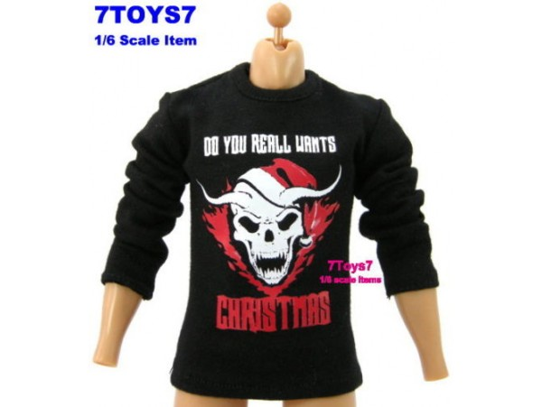 Crazy Owners 1/6 Tee_ #16 Christmas Skull + Hanger _Fashion CO005A