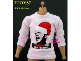 Crazy Owners 1/6 Tee_ #18 Christmas Obama + Hanger _Fashion CO005C