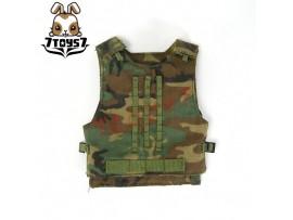 Custom 1/6 Tactical Vest #13:Woodland MOLLE Interceptor CSX02M
