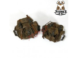 Custom 1/6 Army Green Multi-function Pouch x 2 _US Army Now CSX06K