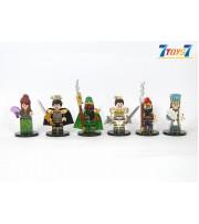 Custom Decool Minifig Courage of the Three Kingdoms_ Set/6 figure _no box CS087Z