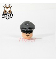 Custom Minifig German WWII Headwear_ Grey SS Officer Visor Cap _Brick CS079A