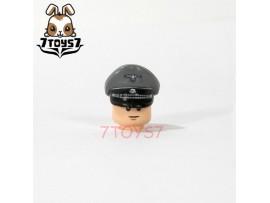 Custom Minifig German WWII Headwear_ Grey SS Officer Visor Cap _Brick CS079A