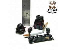 Custom Minifig Samurai Black Soldier_ Armor Set _Naoe Kanetsugu CS005D