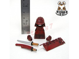 Custom Minifig Samurai Red Soldier_ Armor Set _Takeda CS005F