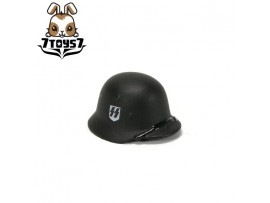Custom Minifig German WWII Headwear #2 Black M42 Helmet _ Custom Brick CS013B