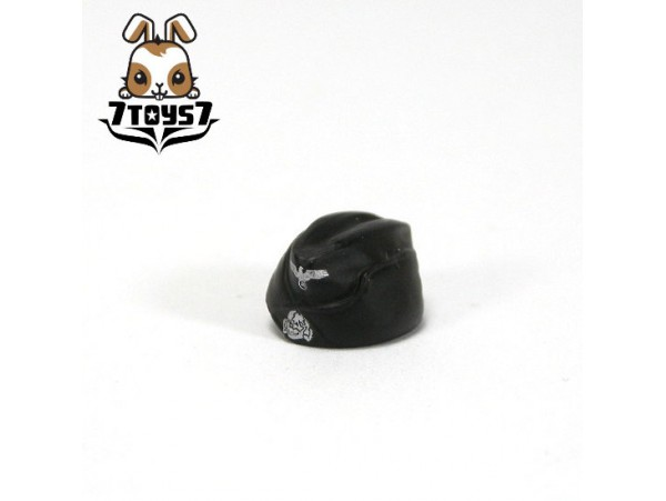 Custom Minifig German WWII Headwear #4 Black M34 Side Cap _ Custom Brick CS013D