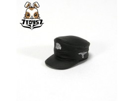 Custom Minifig German WWII Headwear #3 Black M34 Side Cap _ Custom Brick CS013D