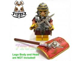 Custom Minifig Roman Legion _ Footman / Legionary _Armor + Spear Rome CS014B
