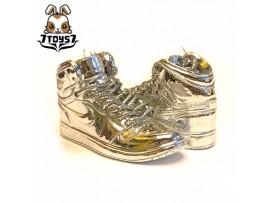 Custom 1/6 Sneaker - Kz-003_ shoes _Silver CS077H