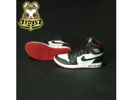 Custom 1/6 Sneaker - Kz-005-11_ shoes _Black Red basketball CS077C