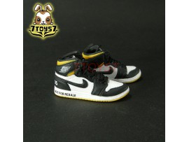 Custom 1/6 Sneaker - Kz-005-12_ shoes _Black Yellow basketball CS077D