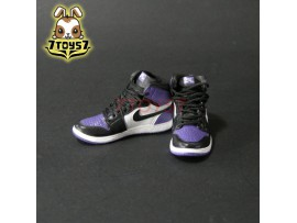 Custom 1/6 Sneaker - Kz-005-13_ shoes _Black White Purple basketball CS077E