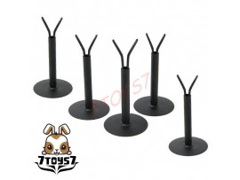 Custom 1/6 Figure Display Stand_ Y Black Stand x 5 _support Now CS001X