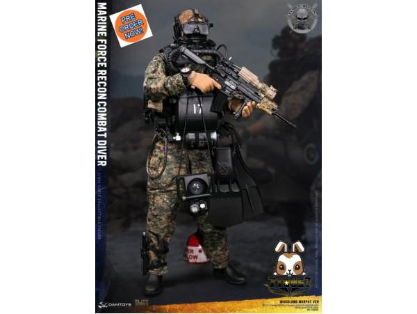 [Pre-order] DAM Toys 1/6 78055 Marine Force Recon Combat Diver Woodland Marpat Ver_ Box Set _DM111X