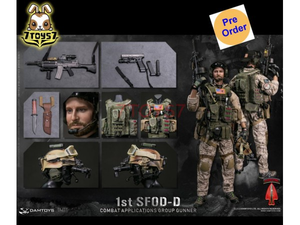 [Pre-order deposit] DAM Toys 1/6 78074 1st SFOD-D Combat Applications Group Gunner_ Box Set _DM158Z