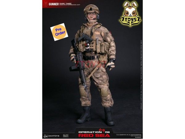 [Pre-order] DAM Toys 1/6 DMS007 Operation Red Sea - PLA Navy Marine Corps SAW Gunner_ Box _DM130Z