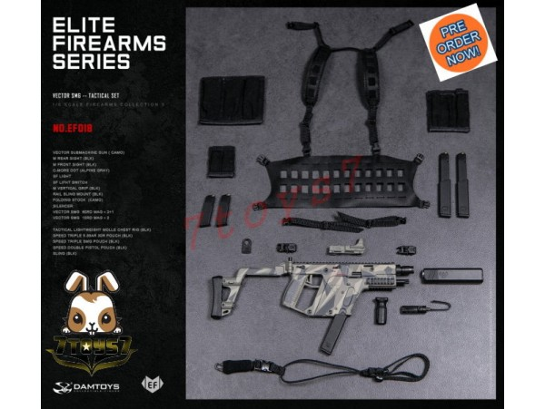 [Pre-order] DAM Toys 1/6 EF018 Elite Firearms Series 3 Vector SMG_ Set _DM108G
