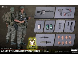 DAM Toys 1/12 Pocket Elite S: Army 25th Infantry Division - Staff Sergeant_ Box _DM212A