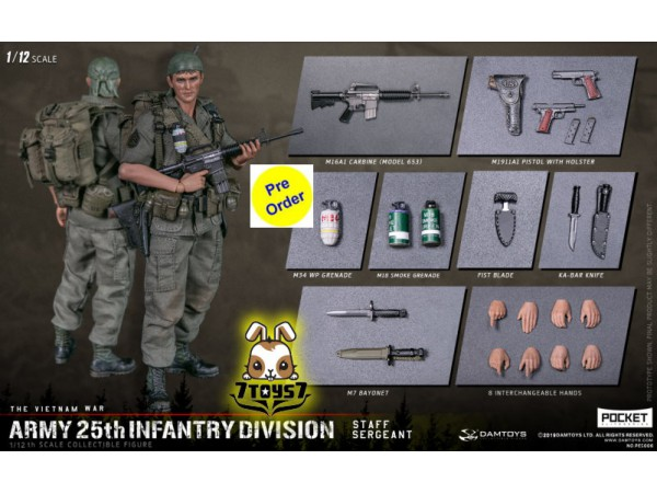 [Pre-order deposit] DAM Toys 1/12 Pocket Elite S: Army 25th Infantry Division - Staff Sergeant_ Box _DM212A