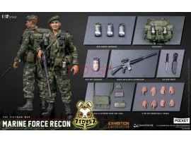 Dam Toys 1/12 PES009 Pocket Elite Series - Marine Force Recon in Vietnam_ Shanghai WF2019 Exhibition Limited Box Set _DM114X