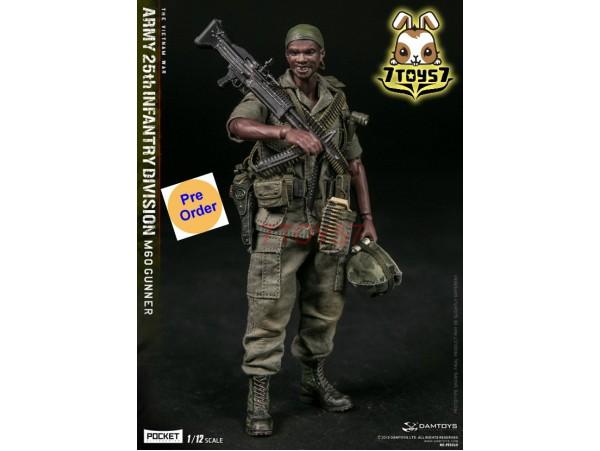 [Pre-order] DAM Toys 1/12 PES010 Pocket Elite Series: Army 25th Infantry Division M60 Gunner_ Box Set _DM206Z