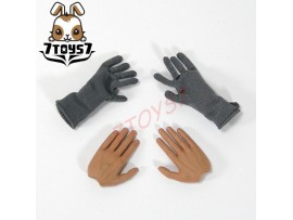 DID 1/6 Radio Operator Sergeant-Major Wolfram_ Gloves + hands_German WWII DD043G