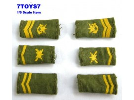 DID 1/6 PLA_ Shoulder Boards 3 pairs _PRC Army China NOW DDX98O