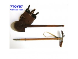 DID 1/6 Deluxe Accessories_ Entrenching Tool Set / 2 _German WWII DDX62D