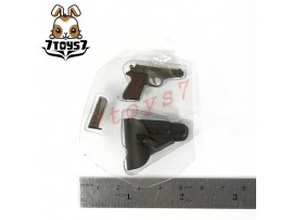 Dragon 1/6 Elite Officer_ Pistol + Holster + Mag _German WWII Now DAX19A