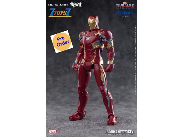 [Pre-order deposit] Eastern Model x Morstorm Iron Man MK46 - PLAMO Normal Version_ Model Kit _Yolopark DMS017Z