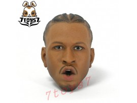 Enterbay 1/6 Allen Iverson_ Head #2 (Open mouth) _EB048I