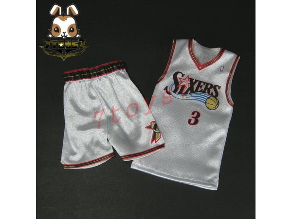 Enterbay 1/6 Allen Iverson_ Home Jersey + shorts _NBA basketball star EB048R