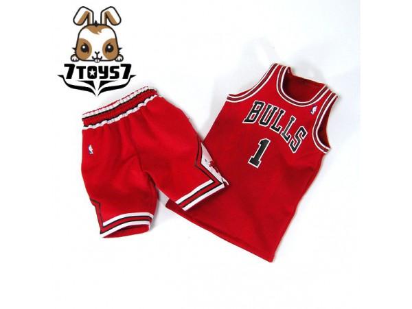 Enterbay 1/6 Derrick Rose_ Jersey + shorts _NBA Bulls basketball star Now EB041O