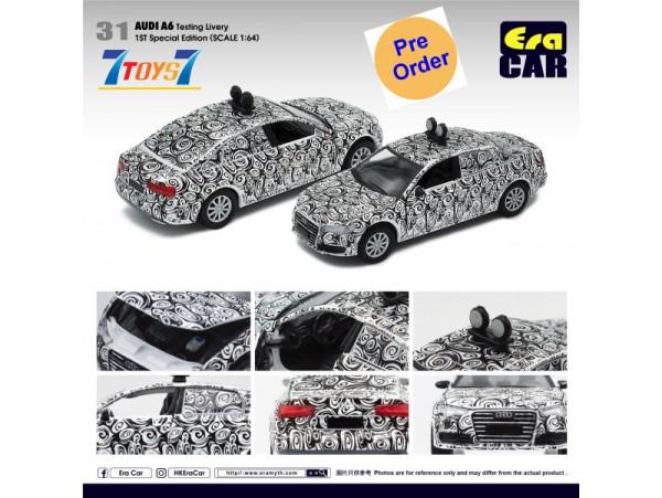 [Pre-order deposit] Era Car 1/35 AUDI A6 Testing Livery (1st SP Edition)_ Diecast Model Car _ER018C