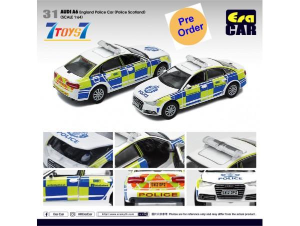 [Pre-order deposit] Era Car 1/35 AUDI A6 England Police Car (Police Scotland)_ Diecast Model Car _ER018B