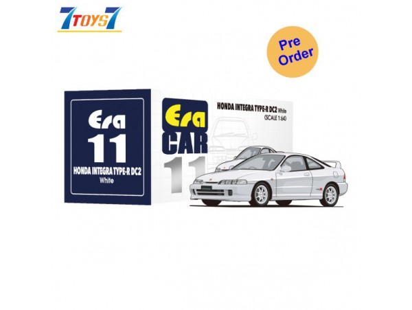 [Pre-order deposit] Era Car 1/64 11 Honda Integra Type-R DC2_ White Die-cast Model Car _ER016A