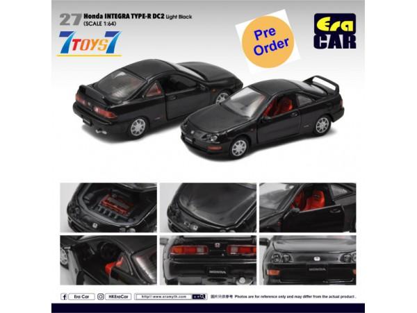 [Pre-order deposit] Era Car 1/64 27 Honda Integra Type-R DC2_ Light Black Die-cast Model Car _ER022B